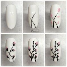 25 nail designs step by step! - - - 25 nail designs step by step . - 25 nail designs step by step! – – – 25 nail designs step by step! Nail Art Hacks, Nail Art Diy, Easy Nail Art, Cool Nail Art, Nail Art Tutorials, How To Nail Art, Nail Manicure, Diy Nails, Cute Nails