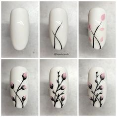 25 nail designs step by step! - - - 25 nail designs step by step . - 25 nail designs step by step! – – – 25 nail designs step by step! Cute Nail Art, Nail Art Diy, Cute Nails, Easy Nail Art, How To Nail Art, Beautiful Nail Art, Pretty Nails, Nail Art Designs Videos, Nail Art Videos
