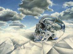 Clare Toms The Dreamer - 2013 Oil on board 40 x 35 cm (framed) Day Of The Dead Skull, Surrealism Photography, Vanitas, Memento Mori, Photo Manipulation, Digital Illustration, The Dreamers, Original Artwork, Toms
