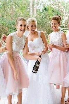 Generous Knee-length Tulle Sleeveless Bridesmaid Dresses - Bridesmaid Dresses 2016 - 2016 New Arrivals - Dresshop.com.au