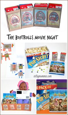 The Boxtrolls Family Movie Night game, craft, and snack ideas #BoxtrollsFamilyNite #pmedia #ad