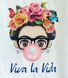 Frida kahlo Viva La Vida flower art Plus Diego Rivera, Frida Kahlo Birthday, Frida Kahlo T Shirt, Expo, Mexican Art, Flower Art, Art For Kids, Pop Art, Illustration Art