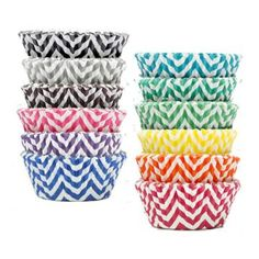 Chevron Cupcake Liners - all colors! Would be so cute for YW new beginnings or any rainbow party! Popcorn Tree, Cupcake Supplies, Cupcake Liners, Paper Products, Party Stores, New Beginnings, Lds, Cute Gifts