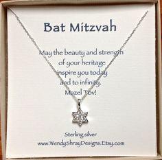 Bat Mitzvah gift Sterling silver and CZ Star by WendyShrayDesigns, $36.00 Bat Mitzvah Themes,