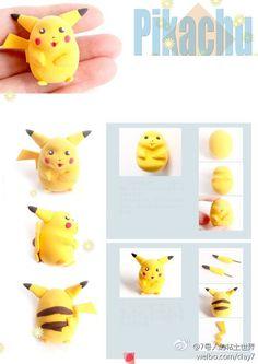 Pikachu clay charm