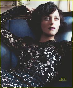 Marion Cotillard in black (Vogue 2010). This woman is gorgeous.
