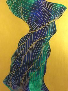 "Saatchi Art Artist Tracie Cheng; Painting, ""Life Stalks [sold]"" #art"