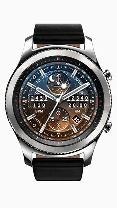 Go to Samsung Apps : Analog clock Battery percent Step percent/count Date display Heart rate display Floor count Burned calories Moved distance Always on Display [gall… Men's Accessories, Cool Watches, Rolex Watches, Samsung Gear S3 Frontier, Skeleton Watches, Watch Faces, Luxury Watches For Men, Vintage Watches, Fashion Watches