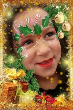 Christmas holly mask
