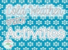 Even though the holiday are over the cold weather is still hanging around, for most of us anyway. Here are some activities and ideas to enjoy the cold the weather from the warmth of your therapy r...