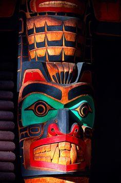 Totem Pole, Capilano Suspension Bridge & Park ~ Vancouver, British Columbia, Canada