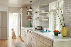Beautiful Appliance Garage And Open Shelving On Pinterest
