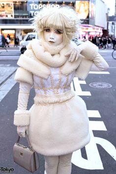 Minori Shironuri in Handmade White Dress