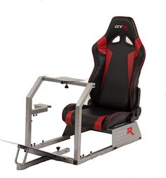 Buy GTR Racing Simulator GTA Model Silver Frame with Black/Red Real Racing Seat, Driving Simulator Cockpit Gaming Chair with Gear Shifter Mount Racing Seats, Racing Wheel, New Gta, Gamer Chair, Playstation, Racing Simulator, Real Racing, Home Decor Furniture, Games