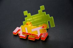 Wonderful business card (space invader)