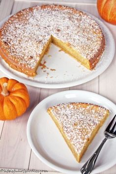Juicy Pumpkin Pie - Life Is Full Of Goodies- Saftiger Kürbiskuchen – Life Is Full Of Goodies Juicy pumpkin pie - Healthy Dessert Recipes, Easy Desserts, Baking Recipes, Tart Recipes, Fall Soup Recipes, Pumpkin Pie Recipes, Pumpkin Puree, Pumpkin Bars, Pumpkin Dessert