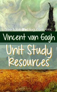 Meeting the Master Artists: Vincent van Gogh (van Gogh Unit Study Resources) Middle School Art, Art School, School Stuff, School Ideas, High School, Lessons For Kids, Art Lessons, Art History Lessons, Van Gogh For Kids