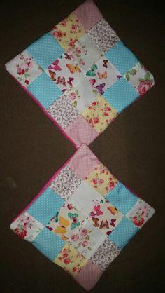 Patchwork cushion covers Www.facebook.com/handmadebylisaevans