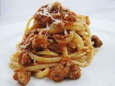 Spaghetti Bolognese (my number two favorite pasta)