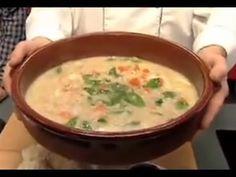 Sopa de cebada perlada Yummy Yummy, Yummy Food, Cheeseburger Chowder, Food Ideas, Recipies, Soup, Youtube, Barley Soup, Pearl Barley