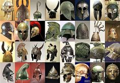 A compilation of ancient #Greek #helmets and their variants, dating from the #Mycenaean until the #Hellenistic period - #ancient Greek #military #war and #armor