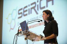 Marine Jeantet, Directrice des risques professionnels CNAMTS, lors de l'ouverture de la Journée d'information Seirich du 15/09/2015 à Paris © INRS