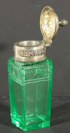 "*FABERGE ~ silver-mounted inkwell, ca.1899-1908. 13 cm (5 1/8"")"