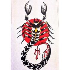scorpion traditional tattoo