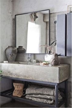 Afbeeldingsresultaat voor industriele wasbak badkamer