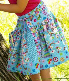 The Carousel Skirt w/ pockets #skirt #girl #handmade