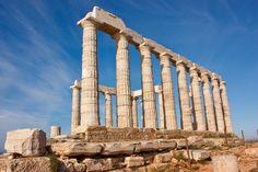 Temple of Poseidon at Cape Sounion, built circa 440 BC.