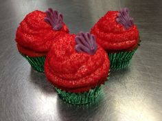 Little mermaid cupcakes #monicasbakerboy #monroemi #littlemermaid