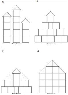 Bouwhoek » Juf Sanne Makkelijke voorbeeldkaarten voor in de bouwhoek.