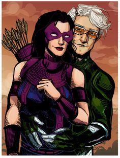 shepherdthomas: Future Hawkeye (Kate Bishop) and Quicksilver (Tom Shepherd redraw from Avengers: The Children's