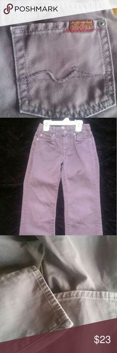 Boys 7 for All Mankind Standard Jean These jeans are a unique grey/purplish color.  The jean is a softer material than your typical jean.  These were only worn once.  There is no wear on these jeans.  Great to dress up or down. 7 For All Mankind Bottoms Jeans