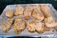 Greek Style Oven Fried Chicken - before it goes in the oven
