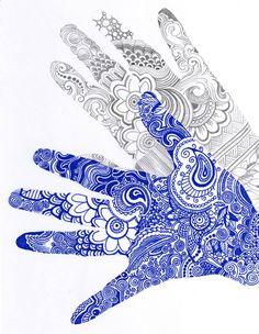 doodle art - Mains