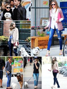 Olivia Palermo out for a walk with Mr. Butler #oliviapalermo #opstyle #styletips
