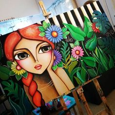 Cherry Blossom Art, Duck Art, Beginner Art, Oil Pastel Art, Indian Folk Art, Crayon Art, Fantasy Paintings, Color Pencil Art, Arte Pop
