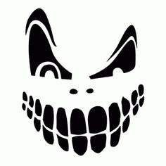 Mean Pumpkin Face templates | Halloween | Pinterest | Pumpkin face ...