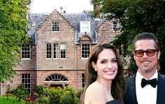 Angelina Jolie and Brad Pitt  About the same time that Pitt's Malibu house went on the market, he and partner Angelina Jolie rented a country estate in Glasgow, Scotland, that includes a 16th-century mansion. Carnell Estate is set in the Ayrshire hills, and there are cows, horses and pheasants on the property, People reported. During the summer, Pitt was seen trout fishing with Maddox, 10, and Pax, 7, on Wednesday, and Jolie was seeing playing in fields of flowers with Knox, 3.