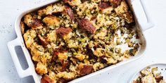familiar mix of herbs in this dressing offers homey comfort.The familiar mix of herbs in this dressing offers homey comfort. Best Thanksgiving Recipes, Thanksgiving Stuffing, Holiday Recipes, Turkey Stuffing, Thanksgiving Menu, Thanksgiving Dressing, Canadian Thanksgiving, Vegetarian Thanksgiving, Turkey Gravy