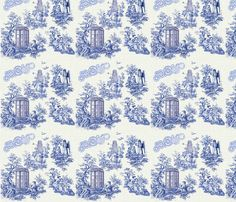 Doctor Who Toile fabric by seschenck on Spoonflower - custom fabric