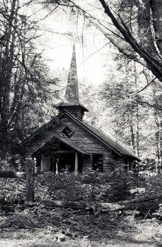 Anyone for prayers? Abandoned chapel. Adirondacks.