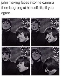 Read Making Faces from the story Jokes and Memes Only A Beatles Fan Would Get Book 2 by adayinthelifeofjohn with 34 rea. Beatles Meme, Beatles Band, Les Beatles, Beatles Guitar, John Lennon, The Quarrymen, Funny Memes, Jokes, Making Faces