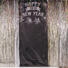 """Pre-printed with """"Happy New Year"""". Personalize this  Photo Booth Backdrop for a perfect photo opportunity with friends and family!"""