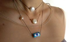 Items similar to Real ladies need real pearls on Etsy Greece Holiday, Eye Painting, Real Pearls, Pearl Necklace, My Etsy Shop, Jewellery, Trending Outfits, Lady, Unique Jewelry
