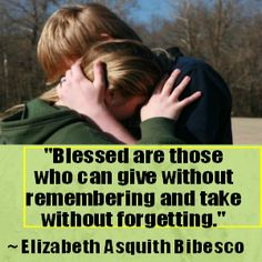 How to be blessed...