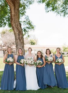 Blue and White Wedding Ideas - The Inn at Rancho Santa Fe Wedding, White Green and Blush Florals, Garden Roses and Hydrangea, Popsicle Cart, Blue Bridesmaids, www.snippetandink.com
