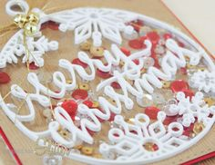 Sprinkled With Glitter: Merry Christmas Shaker Card - Inlaid Dimensional Die Cuts and STAMPtember!